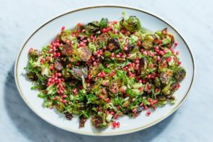 Also included in our Thanksgiving box - all the fixings for my Roasted Brussels Sprouts with Pomegranate and Cider Vinaigrette.