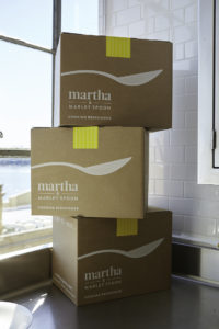 The box arrives at your door just like all our meal-kit deliveries - complete with fresh pre-portioned ingredients.