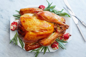 Here is our turkey dressed and ready for the table - your guests will love every bite.