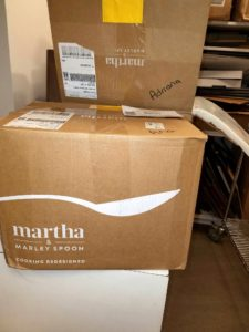 Adriana Weisberg from our housekeeping team received Martha & Marley Spoon boxes right on time for the holiday.