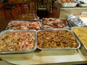 Plus, lots of stuffing and other dishes