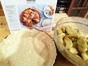 And here is the Martha & Marley Spoon pie as it was being prepared.