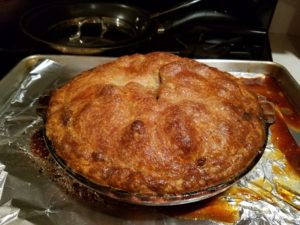 Here's the finished pie - beautiful golden brown.