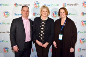 Here I am with President, National Media Group at Meredith Corporation, Jon Werther, and Director of Print Investement at Starcom USA Brenda White. (Photo by Daniel Boczarski/Getty Images for Meredith Corporation)