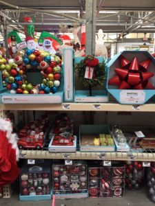 Claire also checks out the Martha Stewart Living Christmas products she helped design!