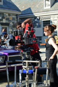 The camera crew checks its equipment many times before shooting.