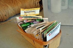 Seeds are available online and at garden centers. I have lots of seeds at The Home Depot. My collection includes seeds for both vegetables and flowers, and all are 100-percent certified organic. http://www.homedepot.com/b/Outdoors-Garden-Center-Seeds-Accessories/Martha-Stewart-Living/N-5yc1vZc8qlZ4tg