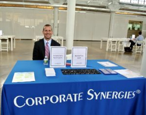 Benefits Broker agent, Matthew Strain from Corporate Synergies, was on-hand to help employees get the most of their company benefits. http://www.corpsyn.com