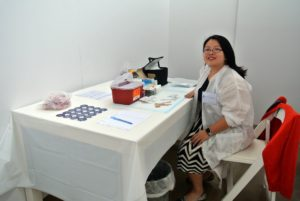 Registered nurse, Justena Yuan from Affliated Physicians, administered flu shots to anyone who was interested. http://www.affiliatedphysicians.com