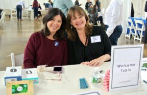 Facilities head, Lynn Goodwin, and human resources director, Erin Gray, welcomed employees to this year's wellness event.