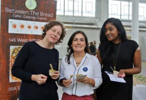 Merchandising design director, Steffi Lynen,  merchandising VP, Jacqueline Landaeta, and copywriter, Sonia Ramadhin, tried samples of Between the Bread and gave them positive reviews.