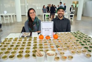 Representatives from Between the Bread, a New York City caterer specializing in healthy, wholesome foods for corporate events, brought in samples for all to try - kale, quinoa and brussels sprouts based dishes were a big hit! http://www.betweenthebread.com