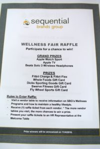 This year's raffle prizes include smart watches and televisions, fitness tracking bracelets, and gift cards.