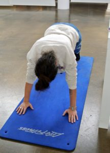 Here's Kimberly doing her push-ups!