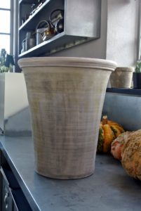 Here is a beautiful tall pot, with a simple decorative band at the top - I love its shape.