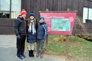 My property director, Mike Fiore, often takes his family to Plimoth Plantation in Massachusetts, on Thanksgiving, to see how life was for the Pilgrims in the early 17th century. Here are his children, John, Alexandra and James. https://www.plimoth.org