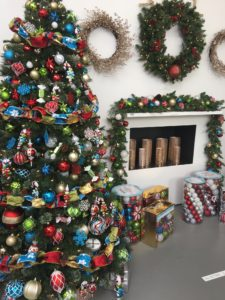 We have such colorful holiday decorations this year at The Home Depot. This is our Alpine Holiday Shatter-Resistant collection. The tree is our Alexandra Pine, which is 7.5 feet tall and comes pre-lit with 550-warm LED lights. goo.gl/Lk3dgU