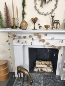 All of these decorations are part of the Snowy Evergreen Collection. They can be mixed and matched on the mantel or on a side table - create your own winter wonderland.