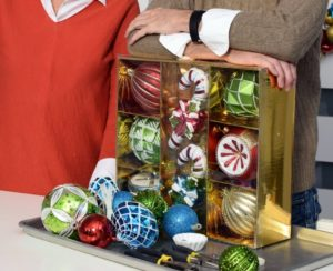 Our oversized ornaments are great. This collection of eight-pieces is completely shatter-resistant, so they won't break, and can also be used outside and inside.