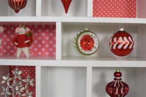 We also hung some of our Vintage-Style ornaments, also from Home Decorators. goo.gl/IhFO7a