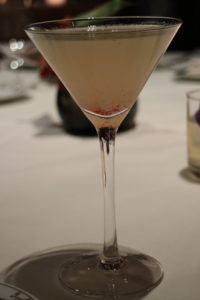 I had a blush rose with vodka served in a martini glass - delicious.