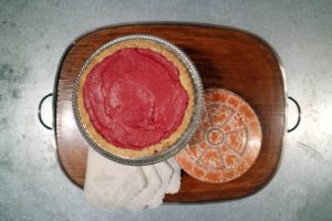 Here is a pretty top view of the cranberry curd tart - it was so delicious.