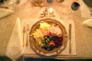 Here is my first plate - everyone had more than one. We enjoyed a most wonderful dinner.