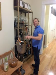 """""""Here is my husband, Jurrie, preparing drinks for our guests."""""""