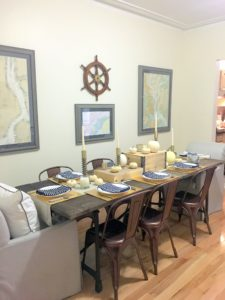 """Merchandising marketing director, Rachel Stewart, describes her photos - """"this is our table, all set for our Thanksgiving meal."""""""