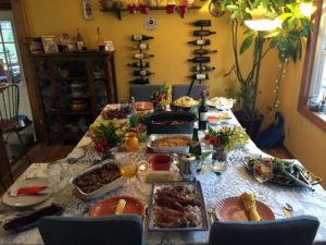 """Associate project manager, Blaze Pennington, celebrated Thanksgiving with her parents, two brothers and a sister. """"My aunt and uncle also joined us in New Jersey for a delicious Thanksgiving meal."""""""