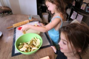 Jessica's kids helped make the Apple Pie with Pate Brisee crust from our web site.
