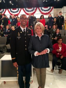 Before the segment, I posed for pictures with some of the Veterans in the audience.