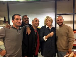 "And look who I saw after the show. Do you recognize any of them? These are some of the crew members who worked on my LIVE daily show, ""The Martha Stewart Show"" - Eddie Lenzo, Kyle Ramdeen, Simeon Guss and Adam Heydt."
