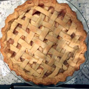 This is Anduin's sour cream apple pie.