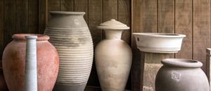 Here are some of the examples of Lunaform's pottery - so beautifully handcrafted, and they are made out of concrete for outdoor use. I have several pots from Lunaform.