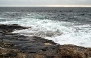 These photos of the ocean water hitting the rocks were taken at a half second with Dr. Knapp's camera.