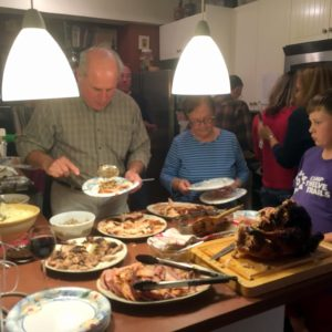 """We had a 21-pound turkey, a 10-pound ham, and a five-pound pork roast!"""