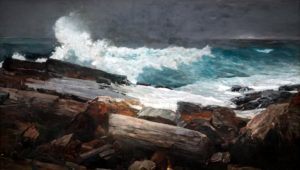 Here is another piece of art work that inspired Dr. Knapp's photos.  Winslow Homer (United States, 1836-1910), Weatherbeaten, oil on canvas, 28 1/2 x 48 3/8 inches. Bequest of Charles Shipman Payson, 1988.55.1
