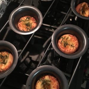 They also had these fennel popovers along with other dishes such as southern broccoli casserole and dutch apple pie.