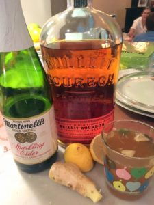 """""""The cocktail was a version of Thomas Joseph's cider bourbon cocktail – I topped it with sparkling cider to add a little fizz - delicious!"""""""