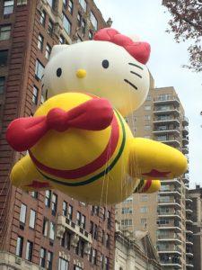 Her favorite balloon is Hello Kitty!