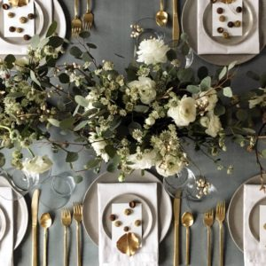 "Martha Stewart Weddings design director, Michael McCormick, always has a lovely table. Here's this year's - ""a little more non-traditional, but still pretty."""