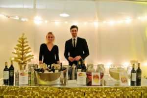 The staff from Perella Events was ready to serve the great wines and Sixpoint beers.