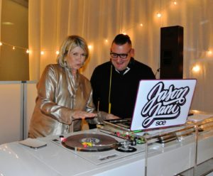 "Here I am ""scratching"" the turntable with Jason Jani, our excellent DJ. http://www.sceeventgroup.com/jasonjani-sce-dj-nj/"