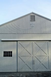 Meanwhile, my shooting stars were placed on the outside of several buildings. Here is one above the Hay Barn.