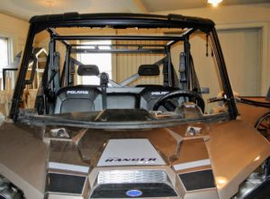 Both the roof and the windshield fit very securely onto the vehicle's durable frame.