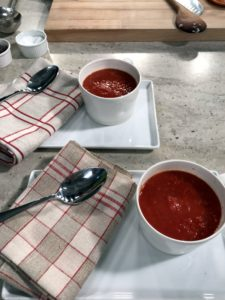 Grilled cheese with delicious tomato soup  - the perfect pair on a cold, snowy day.