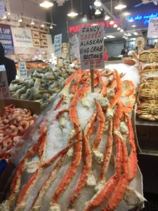 And these fancy cooked Alaskan King crab legs