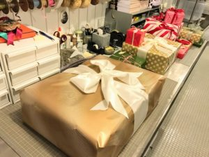 Inside, lots and lots of Christmas gifts are being wrapped. I always try to make the gift wrapping as fun and as special as the present inside.