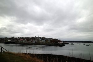Here's a view of Lubec from the Mulholland Point Lighthouse. It was a very cloudy day, but also rather mild for this time of year.